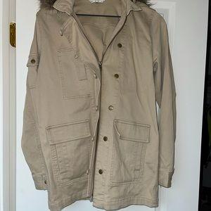 Cabi Lightweight Jacket With Detachable Fur